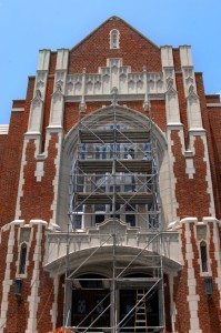 Careful Cleaning of Historic Brick Building